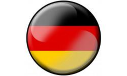 Sticker / autocollant : drapeau Allemand rond - 10cm