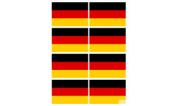 Sticker / autocollant : drapeau officiel Allemand - 8 stickers de 9.5X6.3 cm