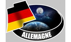 Sticker / autocollant :  ALLEMAGNE - 15x10cm