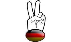 Sticker / autocollant : salut de motard allemand - 10x4.8cm