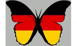 Sticker / autocollant : effet papillon Allemand - 10x7cm