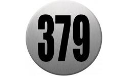 numéroderue378 gris brossé - 10cm