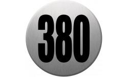 numéroderue380 gris brossé