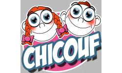 """stickers / autocollants """"Chicouf frére et soeur 1"""""""