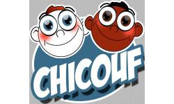 "stickers / autocollants ""Chicouf fréros"""