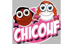 """stickers / autocollants """"Chicouf soeurettes"""""""