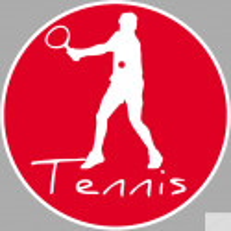 Sticker / autocollant Tennis 3 - 5cm