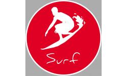 Sticker / autocollant : Surf 2 - 5cm