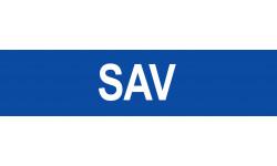 Autocollant local SAV bleu