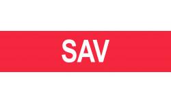 autocollant local SAV rouge