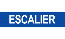 Autocollant local ESCALIER bleu