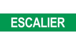 Autocollant local ESCALIER vert