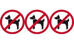 Sticker / autocollant : pictogramme Animaux interdits - 3x10cm