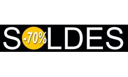 Sticker / autocollant : solde design 70% - 21x4,4cm