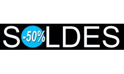 Sticker / autocollant : solde design 50% - 21x4,4cm