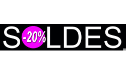 Sticker / autocollant : solde design 20% - 21x4,4cm