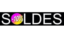 Sticker / autocollant : solde design 10% - 21x4,4cm