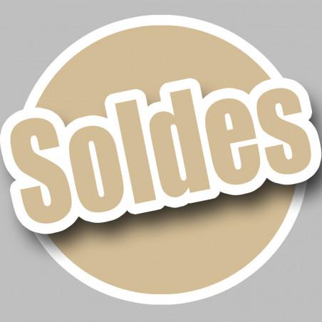 Sticker / autocollant : solde couleur imitation OR - 15cm