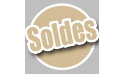 Sticker / autocollant : solde couleur imitation OR - 10cm