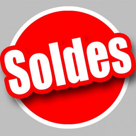 Sticker / autocollant : solde Rouge - 10cm