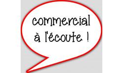 stickers / autocollant commercial à l'écoute