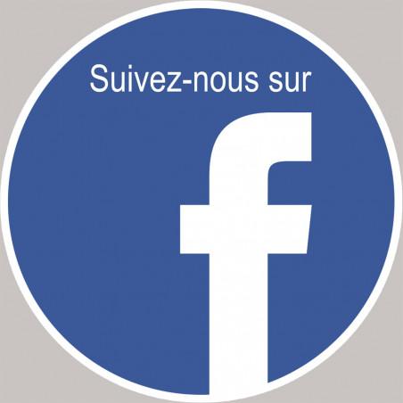 Sticker / autocollant : Facebook - 15cm