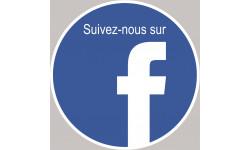 Sticker / autocollant : Facebook - 20cm