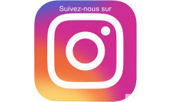 Sticker / autocollant : instagram - 10cm