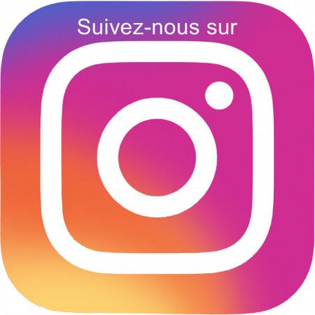 Sticker / autocollant : instagram - 20cm