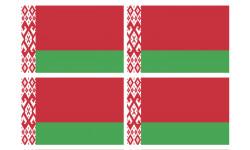 Stickers / autocollants drapeau Biélorussie 2