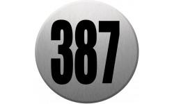 numéroderue387 gris brossé