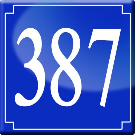 Sticker / autocollant : numéroderue387 classique - 10cm