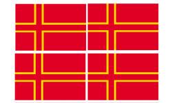 Sticker / autocollant : drapeau officiel Normand - 4 stickers - 9.5 x 6.3 cm