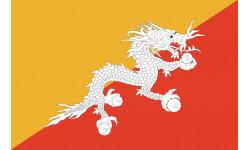 Sticker / autocollant : Drapeau Bhutan - 5x3.3cm