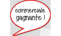 stickers / autocollant commerciale gagnante