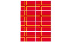 Sticker / autocollant : drapeau officiel Normand - 8 stickers - 9.5 x 6.3 cm