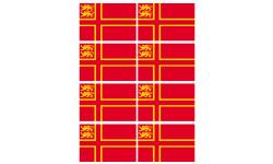 Sticker / autocollant : drapeau Normand avec Lions - 8 stickers - 9.5 x 6.3 cm