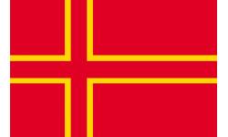 Sticker / autocollant : drapeau officiel Normand - 1 autocollant 5X3.3cm