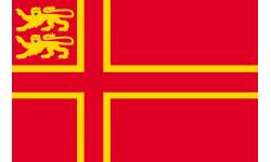 Sticker / autocollant : drapeau Normand avec Lions - 1 autocollant 5X3.3cm