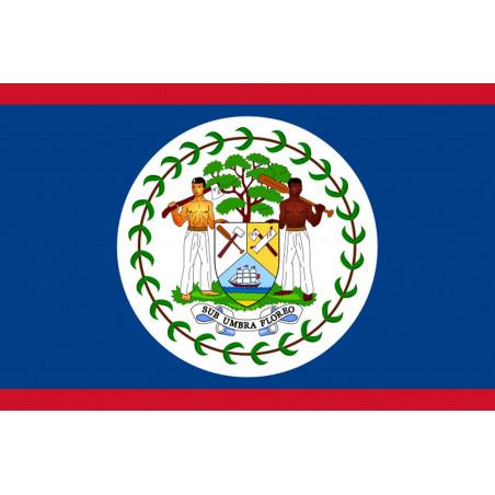Sticker / autocollant : Drapeau Belize - 15x10cm