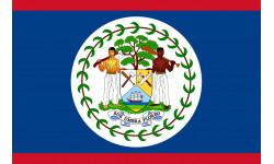 Sticker / autocollant : Drapeau Belize - 5x3.3cm