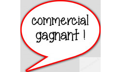 autocollant commercial gagnant