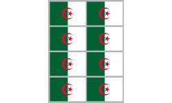 Sticker / autocollant : Drapeau Algérie - 8 stickers - 9.5 x 6.3 cm