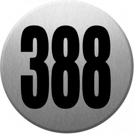 Sticker / autocollant : numéroderue388 gris brossé - 10cm