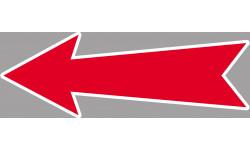 Sticker / autocollant : flèche détourée universelle - 15x5cm
