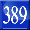 Sticker / autocollant : numéroderue389 classique - 10cm