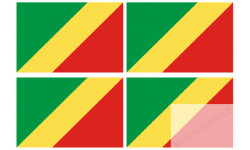 Sticker / autocollant : Drapeau officiel Republique du Congo
