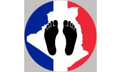 Pieds noirs carte Franco Algérienne