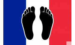 Pieds noirs drapeau Français