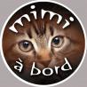 Sticker / autocollant : Mimi a bord - 15cm
